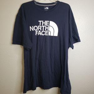North Face T-Shirt Navy Blue 3XL